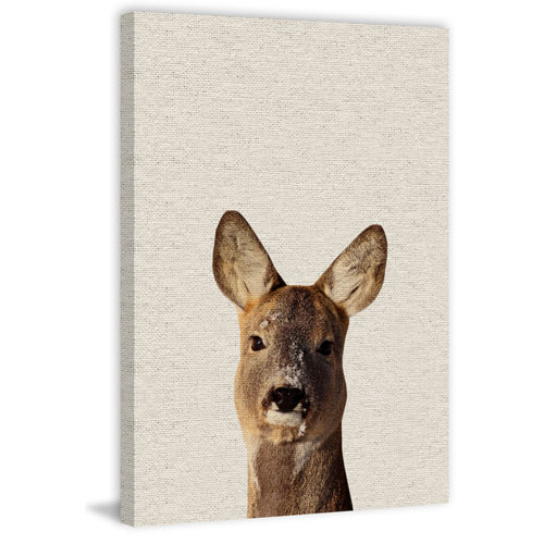 Marmont Hill Attentive Kangaroo 45 x 30 In. Painting Print on Wrapped Canvas