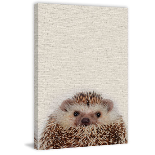 Marmont Hill Cute Porcupine 36 x 24 In. Painting Print on Wrapped Canvas
