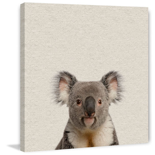 Marmont Hill Playful Koala 24 x 24 In. Painting Print on Wrapped Canvas