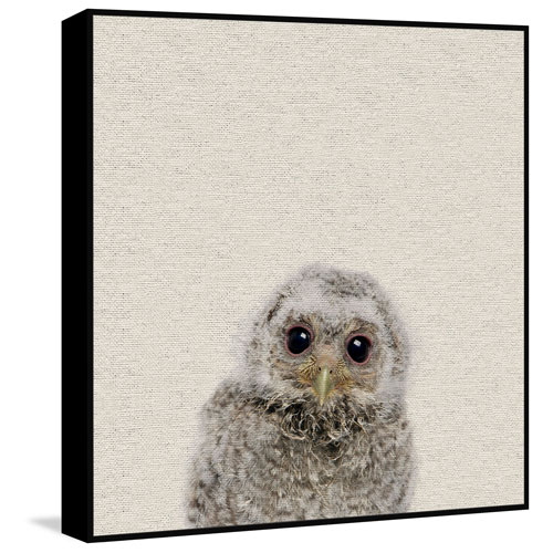 Marmont Hill Animals - Peekaboo II Floater 18 x 18 In. Framed Painting Print on Canvas