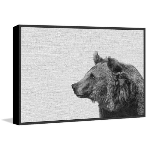 Marmont Hill Side Furry Bear II Floater 30 x 45 In. Framed Painting Print on Canvas