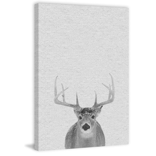 Marmont Hill Grey Deer II 12 x 8 In. Painting Print on Wrapped Canvas