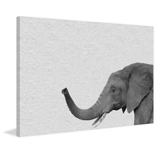 Marmont Hill Side Elephant II 40 x 60 In. Painting Print on Wrapped Canvas
