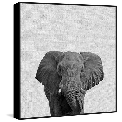 Marmont Hill Big Elephant Floater 48 X 48 In. Framed Painting Print ...
