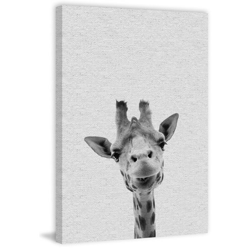 Cool Giraffe 60 x 40 In. Painting Print on Wrapped Canvas