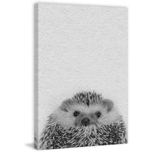 Marmont Hill Cute Porcupine II 60 x 40 In. Painting Print on Wrapped Canvas