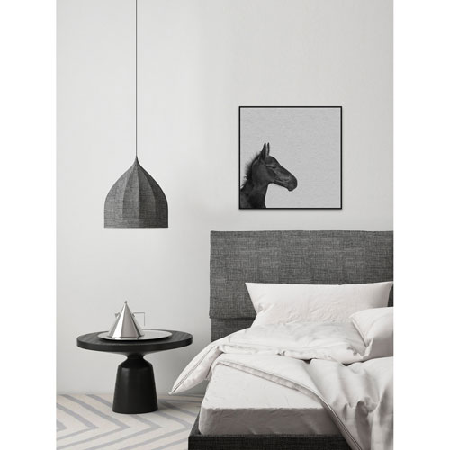 Marmont Hill Black Horse IV Floater 12 X 12 In. Framed Painting ...