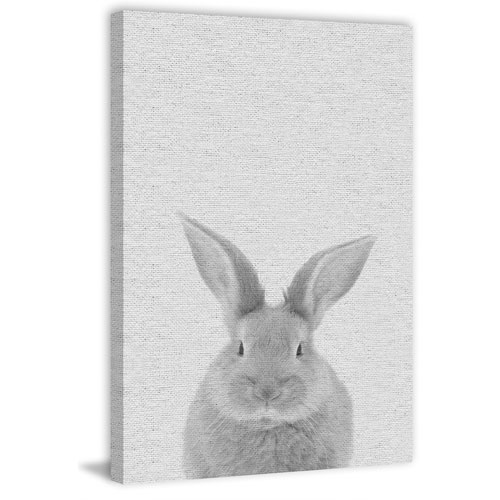 Marmont Hill Chubby Rabbit 18 x 12 In. Painting Print on Wrapped Canvas