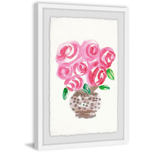 Marmont Hill Big Pink Blooms 30 x 20 In. Framed Painting Print