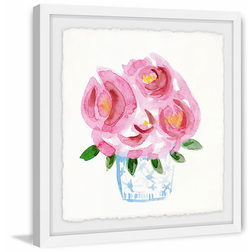 Marmont Hill Pink Blooms 48 x 48 In. Framed Painting Print
