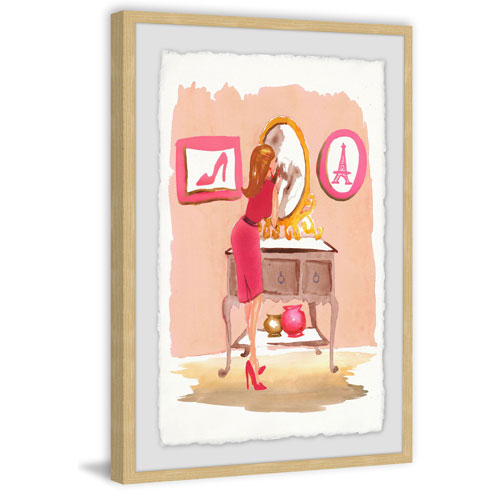 Marmont Hill Putting on Lipstick 12 x 8 In. Framed Painting Print