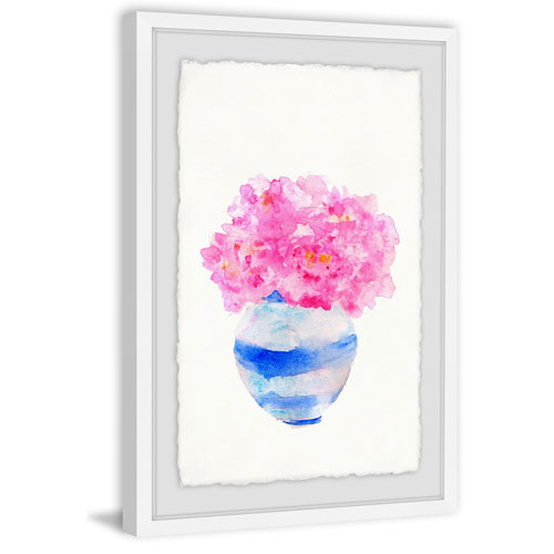Marmont Hill Bushy Pink Vase 60 x 40 In. Framed Painting Print