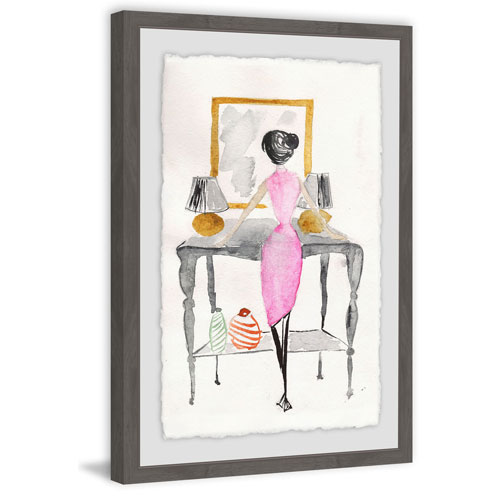 Marmont Hill Pretty Pink Dress 18 x 12 In. Framed Painting Print