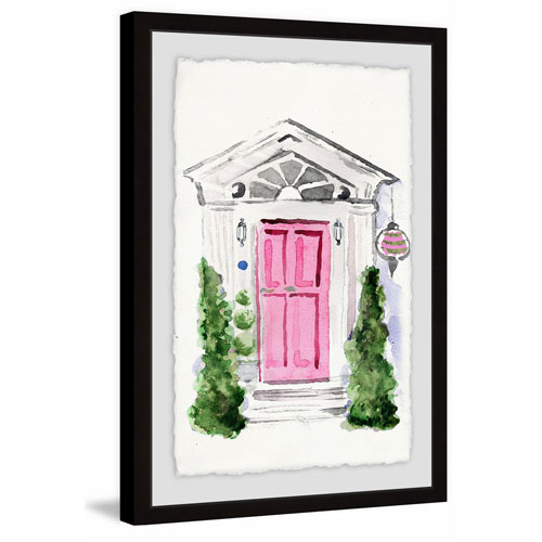 Marmont Hill Pink Door 18 x 12 In. Framed Painting Print