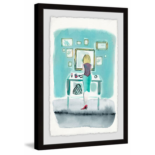 Marmont Hill Aqua Wall 60 x 40 In. Framed Painting Print