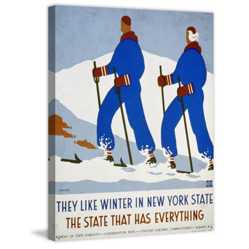 Marmont Hill Winter in NY State 39 x 30 In. Painting Print on Wrapped Canvas