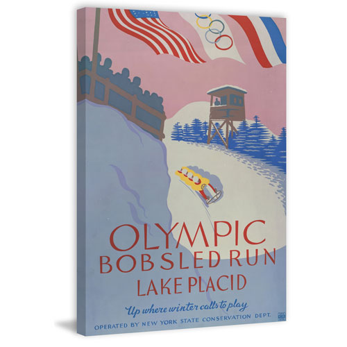 Marmont Hill Olympic Bobsled Run 12 x 8 In. Painting Print on Wrapped Canvas