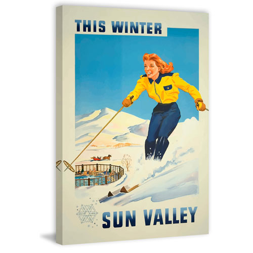 Marmont Hill Sun Valley 36 x 24 In. Painting Print on Wrapped Canvas