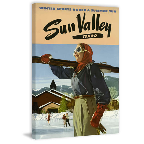 Marmont Hill Sun Valley Idaho 60 x 40 In. Painting Print on Wrapped Canvas
