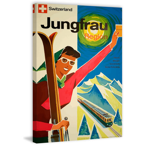 Marmont Hill Jungfrau Region 12 x 8 In. Painting Print on Wrapped Canvas