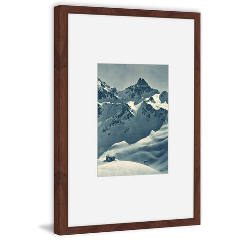 Marmont Hill Snowy Peaks 18 x 12 In. Framed Painting Print