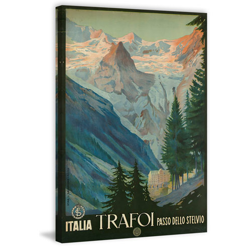 Marmont Hill Italia Trafoi 45 x 30 In. Painting Print on Wrapped Canvas