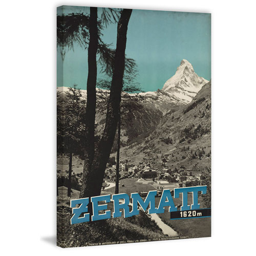 Marmont Hill Zermatt 45 x 30 In. Painting Print on Wrapped Canvas