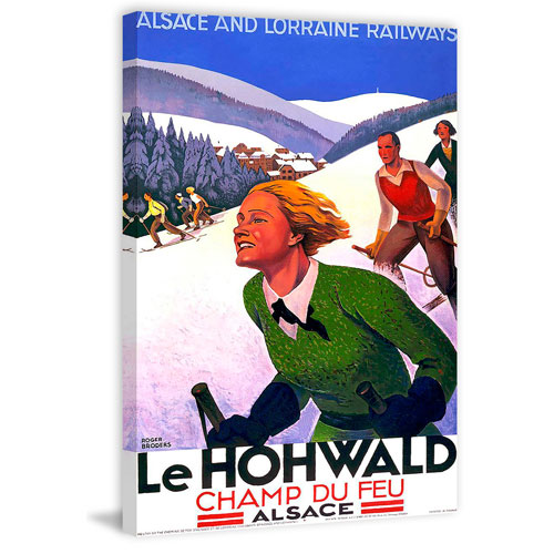 Marmont Hill Le Hohwald 45 x 30 In. Painting Print on Wrapped Canvas
