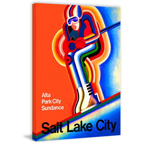 Marmont Hill Salt Lake City 12 x 8 In. Painting Print on Wrapped Canvas