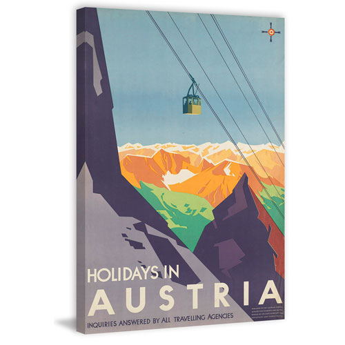 Marmont Hill Holidays in Austria 24 x 16 In. Painting Print on Wrapped Canvas