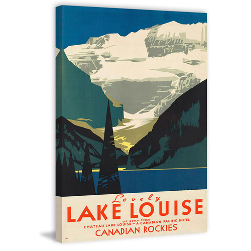 Marmont Hill Canadian Rockies II 12 x 8 In. Painting Print on Wrapped Canvas