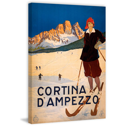 Marmont Hill Cortina D'Ampezzo 30 x 20 In. Painting Print on Wrapped Canvas