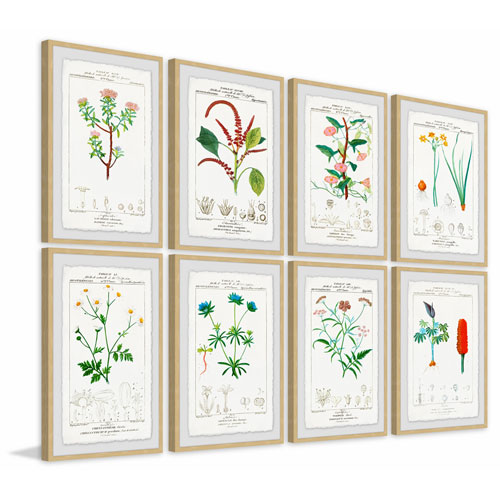 Marmont Hill Flower Sets 72 x 96 In. Octaptych