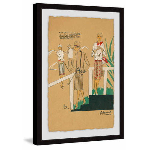 Marmont Hill Golf Ladies 18 x 12 In. Framed Painting Print