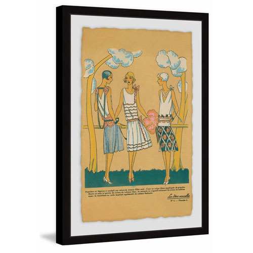 Marmont Hill Summer Dresses 36 x 24 In. Framed Painting Print