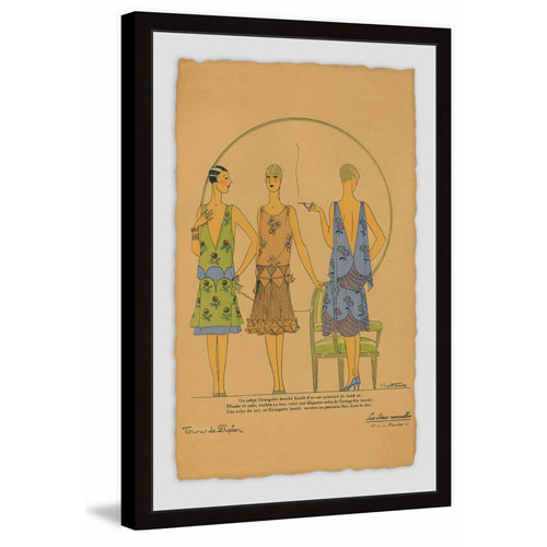 Gossip Gals 36 x 24 In. Framed Painting Print