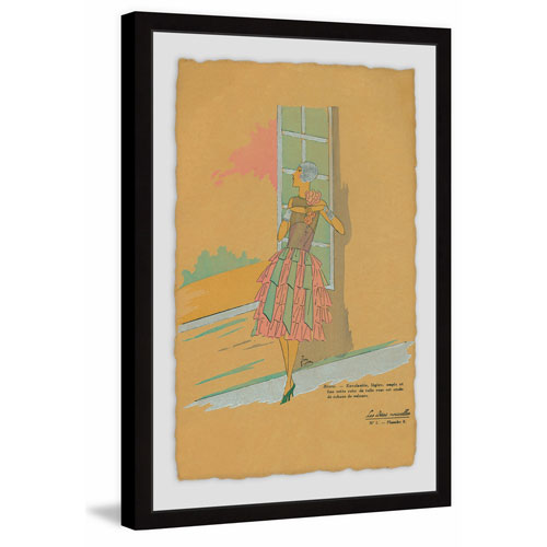 Marmont Hill Gazing Out the Window 30 x 20 In. Framed Painting Print