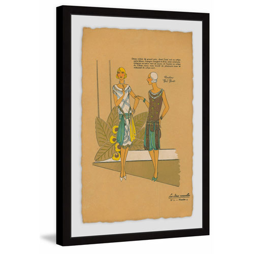 Marmont Hill Chatty Kathies 60 x 40 In. Framed Painting Print