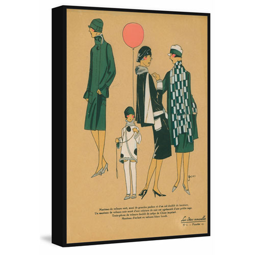 Marmont Hill Green Fashion Floater 24 x 16 In. Framed Painting Print on Canvas