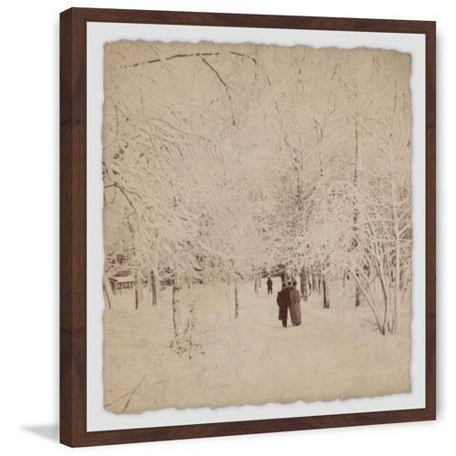 Marmont Hill Winter White 24 x 24 In. Framed Painting Print