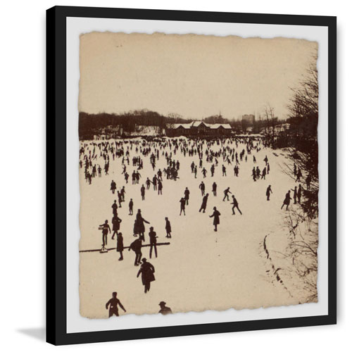 Marmont Hill A Thousand Skaters II 40 x 40 In. Framed Painting Print