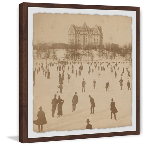 Marmont Hill Skating II 40 x 40 In. Framed Painting Print