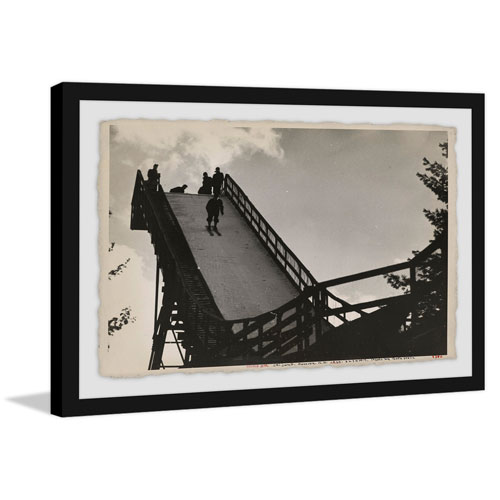 Marmont Hill Ski Jump III 40 x 60 In. Framed Painting Print