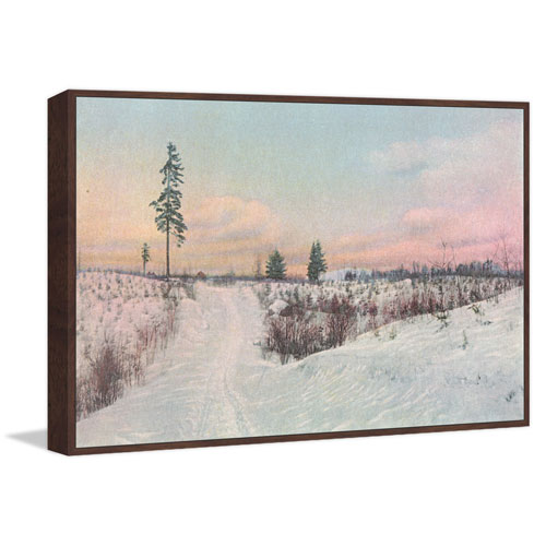 Marmont Hill Snow Scene Floater 16 x 24 In. Framed Painting Print on Canvas