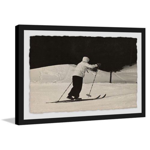 Marmont Hill Cross Country Ski 40 x 60 In. Framed Painting Print