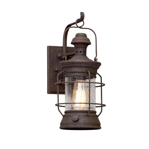 Layhill Rust 16-Inch One-Light Outdoor Wall Lantern