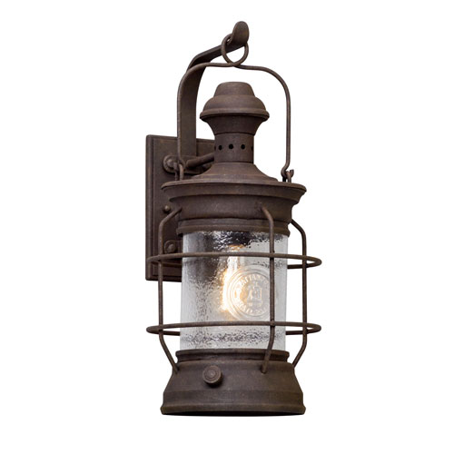 Mill & Mason Layhill Rust 22-Inch One-Light Outdoor Wall Lantern