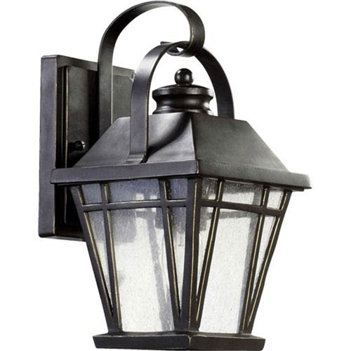 Mill & Mason Fairland Black 12-Inch One-Light Outdoor Wall Sconce