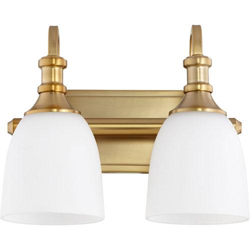 Milton Aged Brass Two-Light Bath Vanity