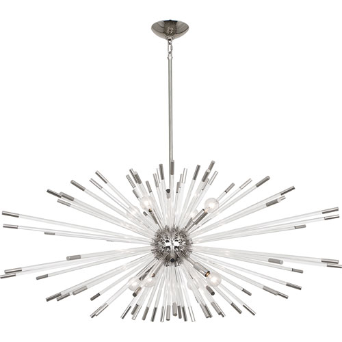 Alexis Polished Nickel Eight-Light Chandelier